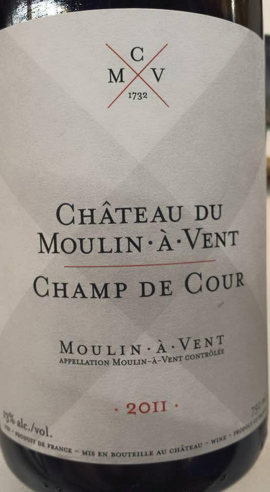 Château du Moulin à Vent – Champ de Cour 2011 – Moulin à Vent
