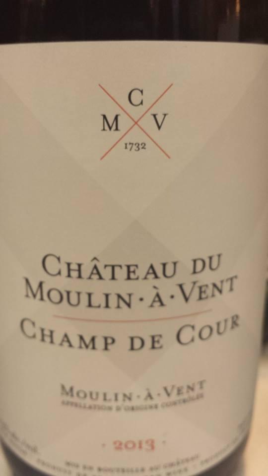 Château du Moulin à Vent – Champ de Cour 2013 – Moulin à Vent