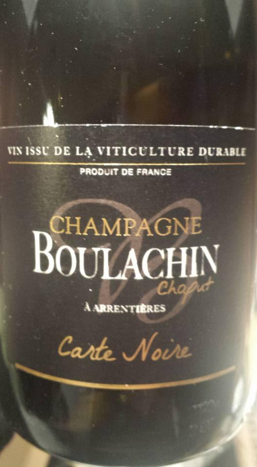 Champagne Boulachin Chaput – Carte Noire – Brut