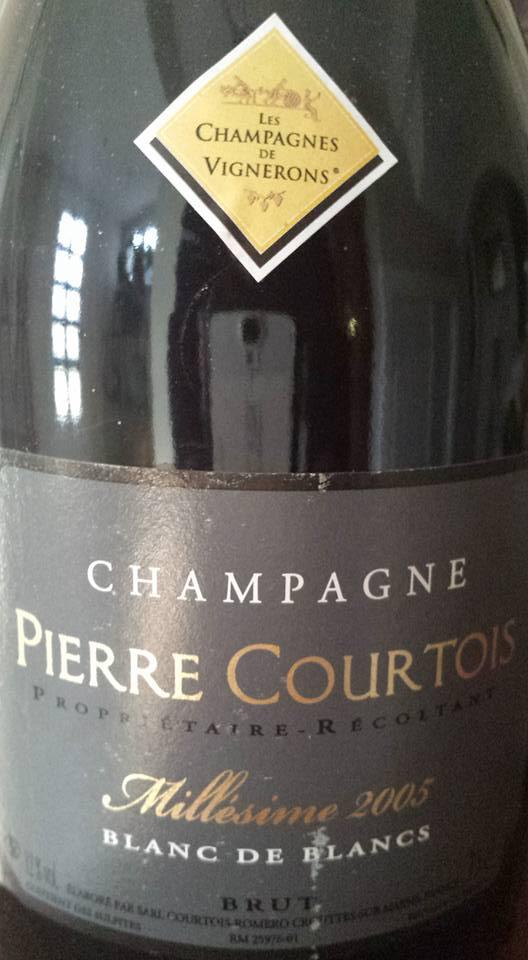 Champagne Pierre Courtois – Millésime 2005 – Blanc de Blancs