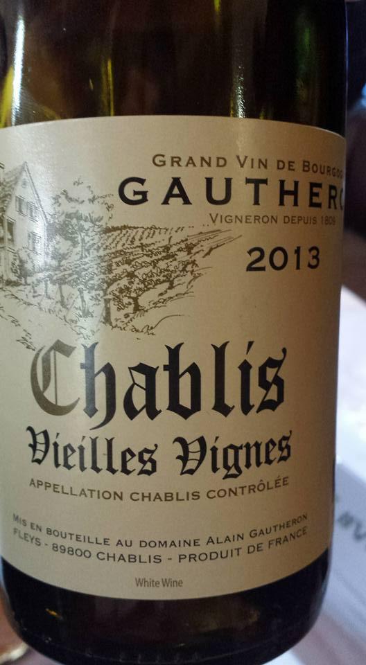 Domaine Alain Gautheron – Vieilles Vignes 2013 – Chablis