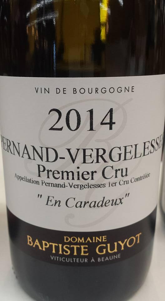 Domaine Baptiste Guyot – En Caradeux 2014 – Premier Cru – Pernand-Vergelesses