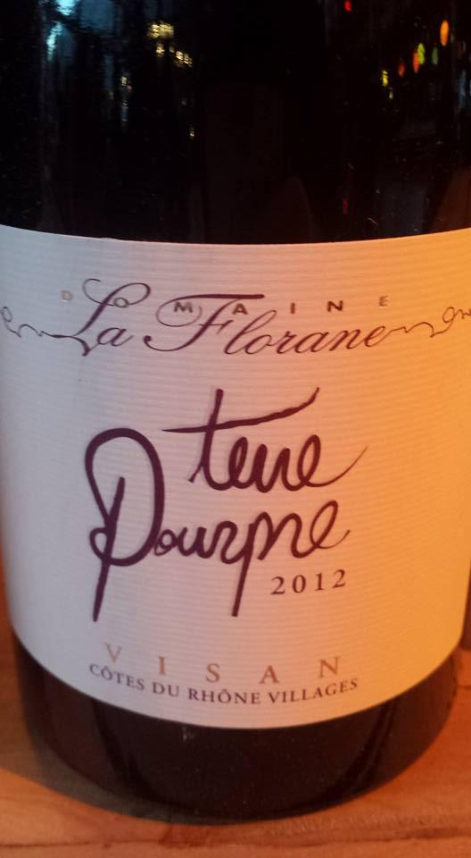 Domaine La Florane – Terre Pourpre 2012 – Côtes du Rhône Villages Visan