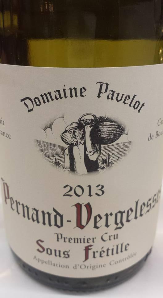Domaine Pavelot – Sous Frétille 2013 – Premier Cru – Pernand Vergelesses