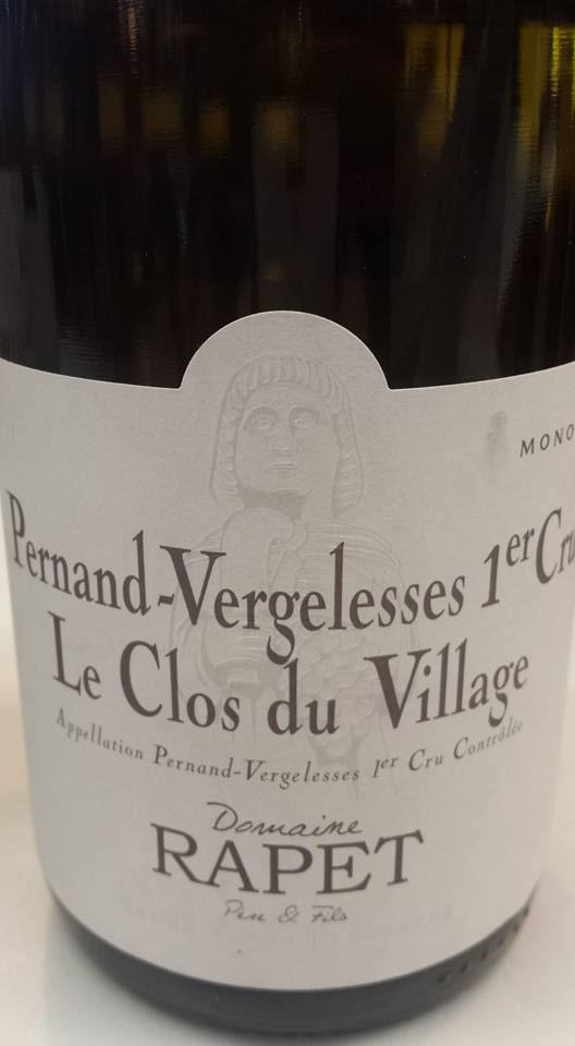 Domaine Rapet – Le Clos du Village 2014 – 1er Cru – Pernand Vergelesses