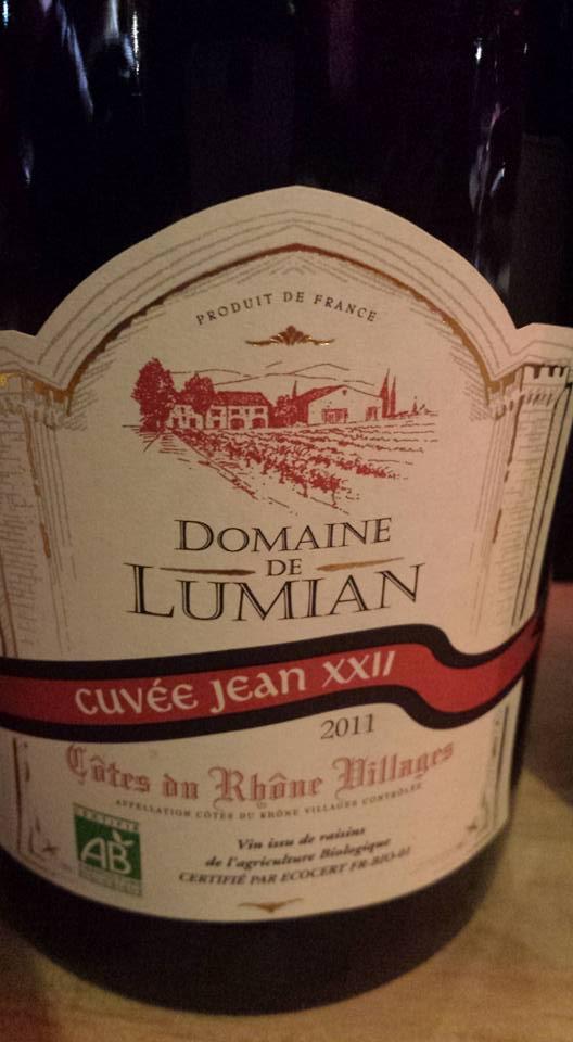 Domaine de Lumian – Cuvée Jean XXII 2011 – Côtes du Rhône Villages