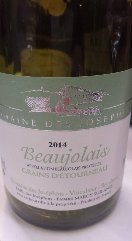 Domaine des Joséphins – Grains d'Etourneau 2014 – Beaujolais