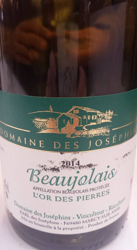 Domaine des Joséphins – L'or des Pierres 2014 – Beaujolais