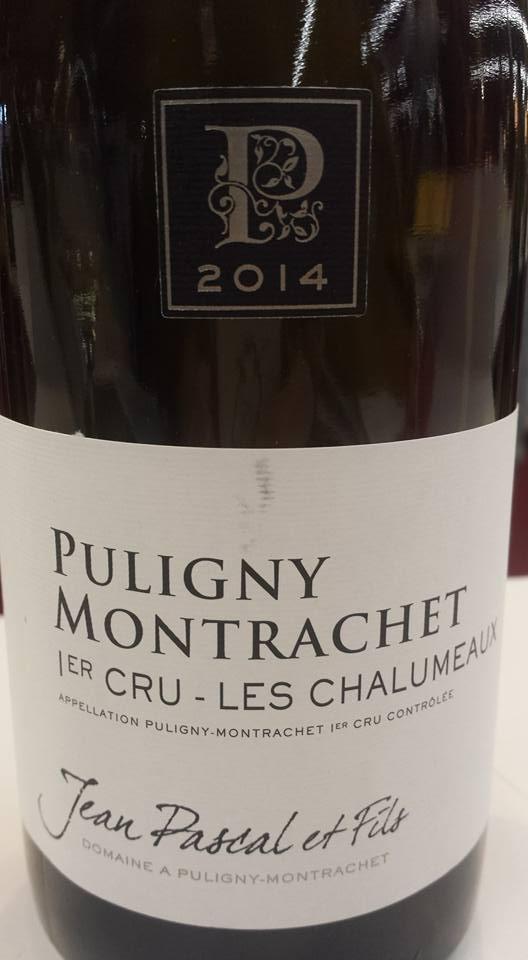 Jean Pascal & Fils – Les Chalumeaux 2014 – 1er Cru – Puligny Montrachet