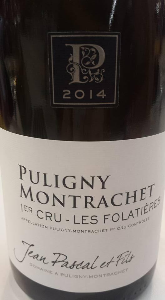 Jean Pascal & Fils – Les Folatières 2014 – 1er Cru – Puligny Montrachet