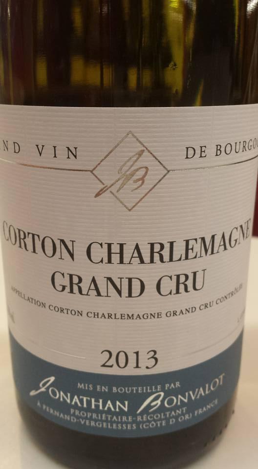 Jonathan Bonvalot 2013 – Corton Charlemagne Grand Cru