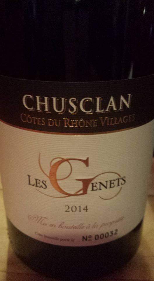 Laudun Chusclan Vingerons – Les Genêts 2014 – Côtes du Rhône Villages Chusclan