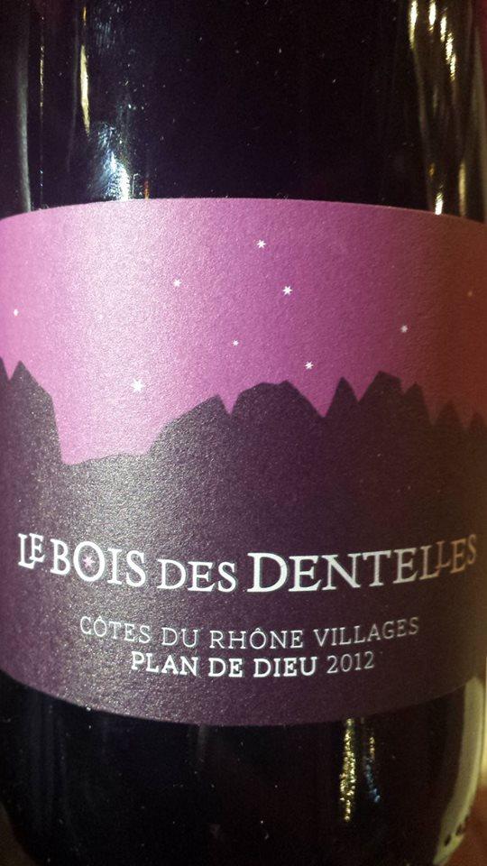 Le Bois des Dentelles – Plan de Dieu – Cuvée Elisa 2012 – Côtes du Rhône Villages