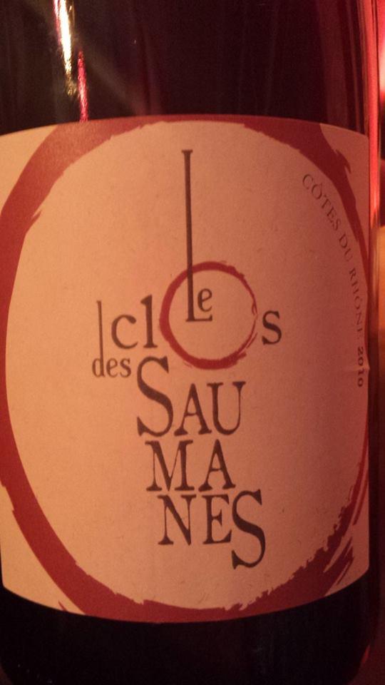 Le Clos des Saumanes 2010 – Côtes du Rhône
