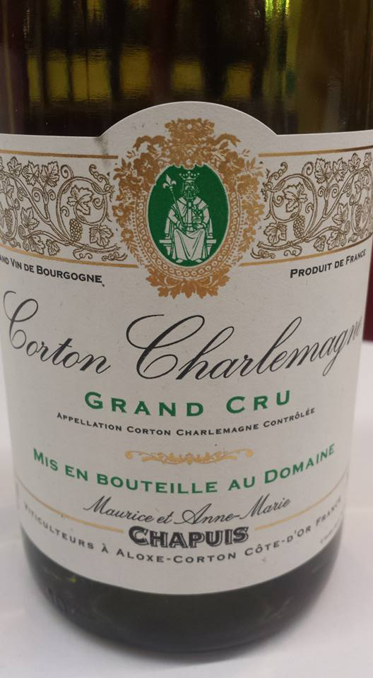 Maurice et Anne Marie Chapuis 2012 – Corton Charlemagne Grand Cru