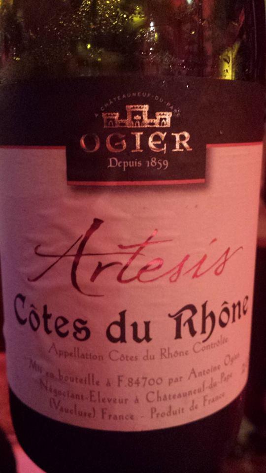 Ogier – Artésis 2014 – Côtes du Rhône