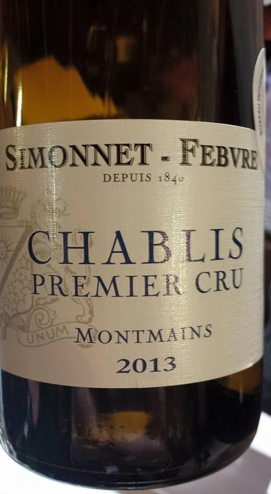 Simmonet-Febvre – Montmains 2013 – Chablis Premier Cru