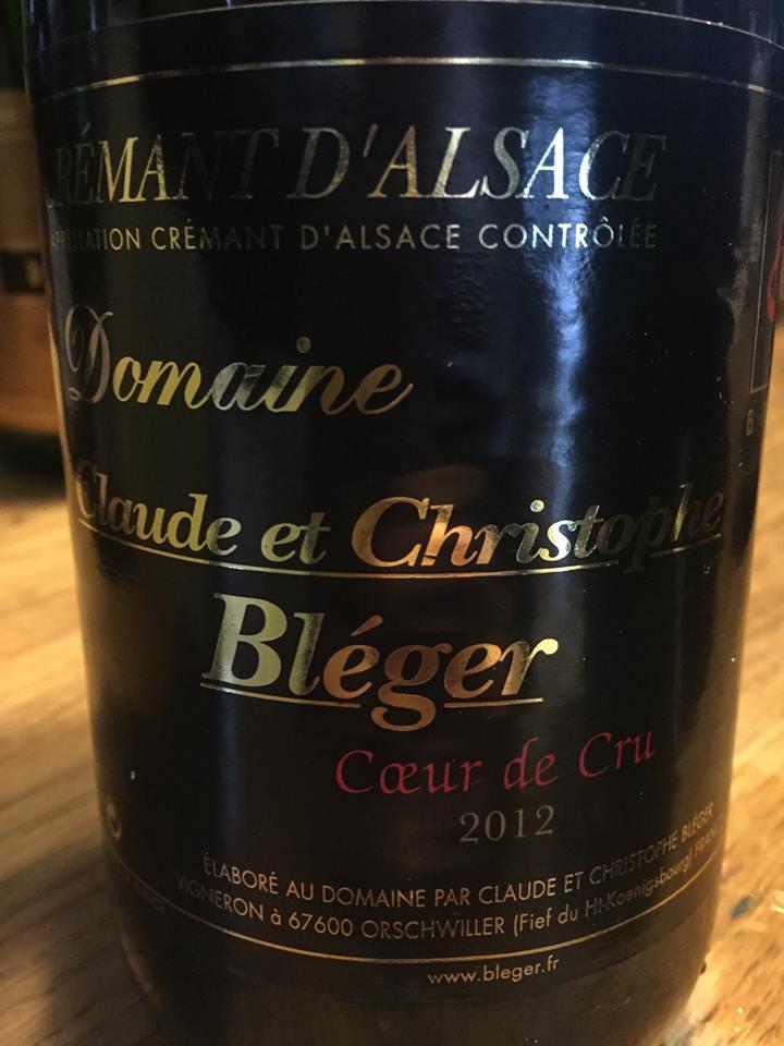 Domaine Claude et Christophe Bléger – Cœur de Cru 2012 – Crémant d'Alsace