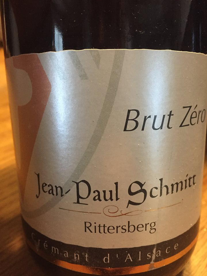 Jean-Paul Schmitt – Brut Zéro – Rittersberg – Crémant d'Alsace