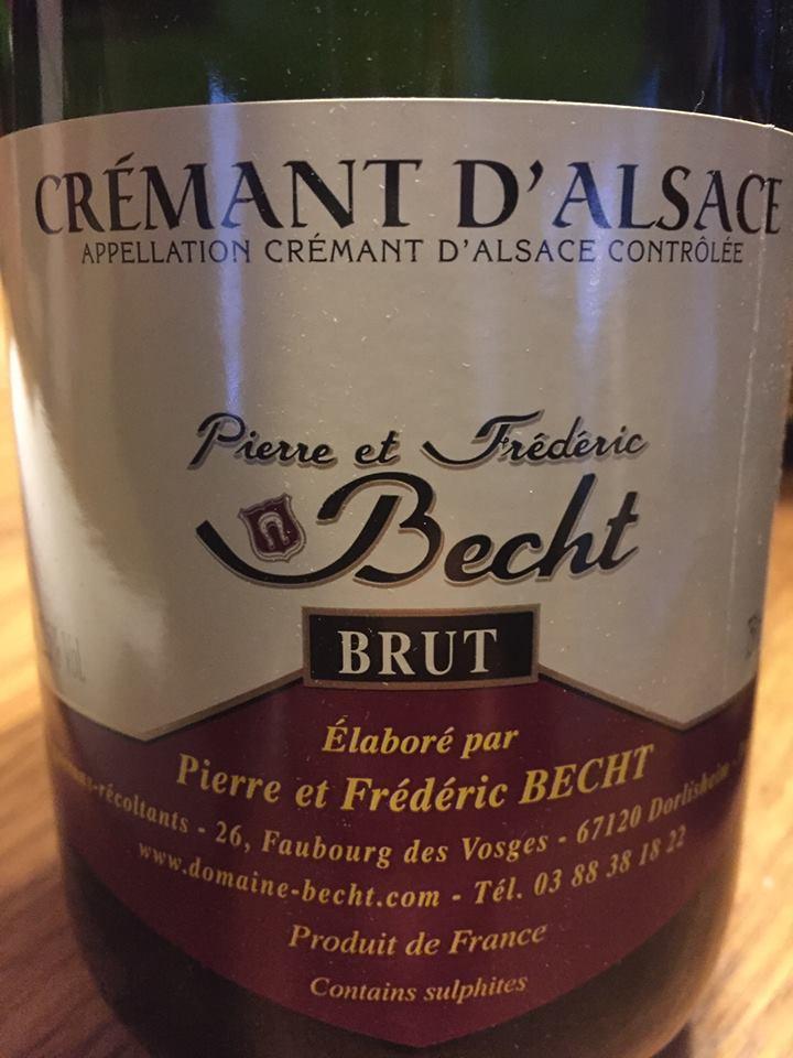 Pierre et Frédéric Becht – Brut – Crémant d'Alsace