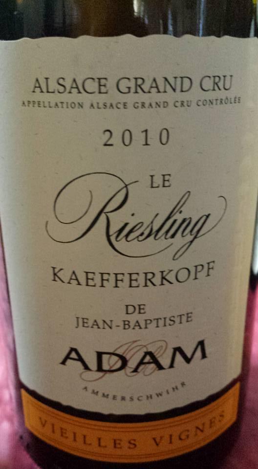 Adam – Riesling Kaefferkopf – Vieilles Vignes 2010 – Alsace Grand Cru