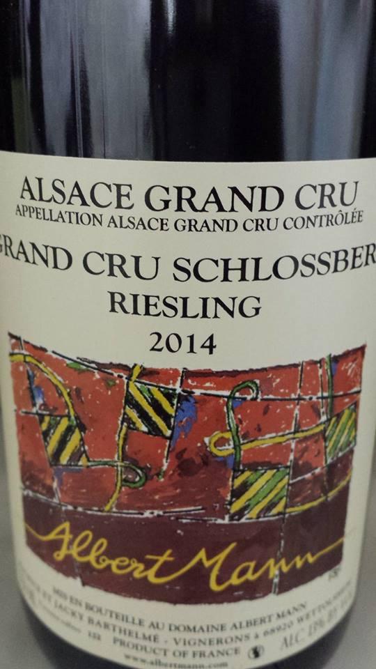 Albert Mann – Grand Cru Schlossberg Riesling 2014 – Alsace