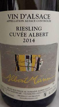 Albert Mann – Riesling Cuvée Albert 2014 – Alsace