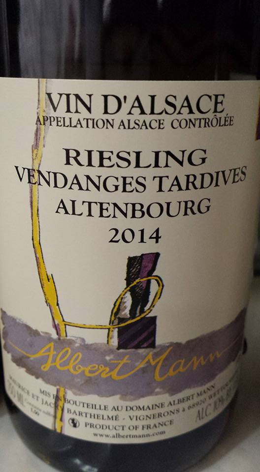 Albert Mann – Riesling Vendanges Tardives 2014 Altenbourg – Alsace