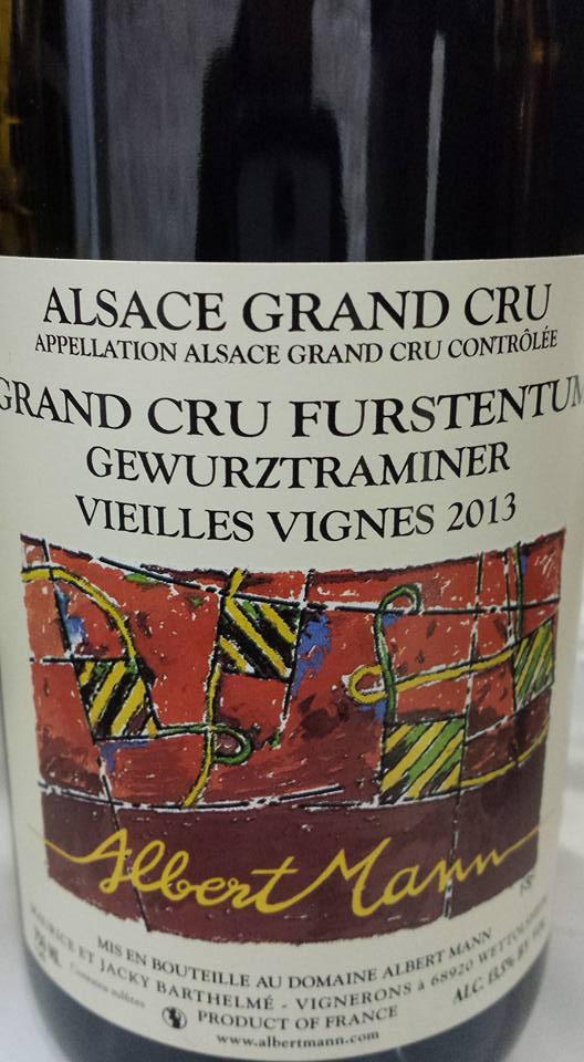 Albert Mann – Gewurztraminer Vieilles Vignes 2013 Furstentum – Alsace Grand Cru
