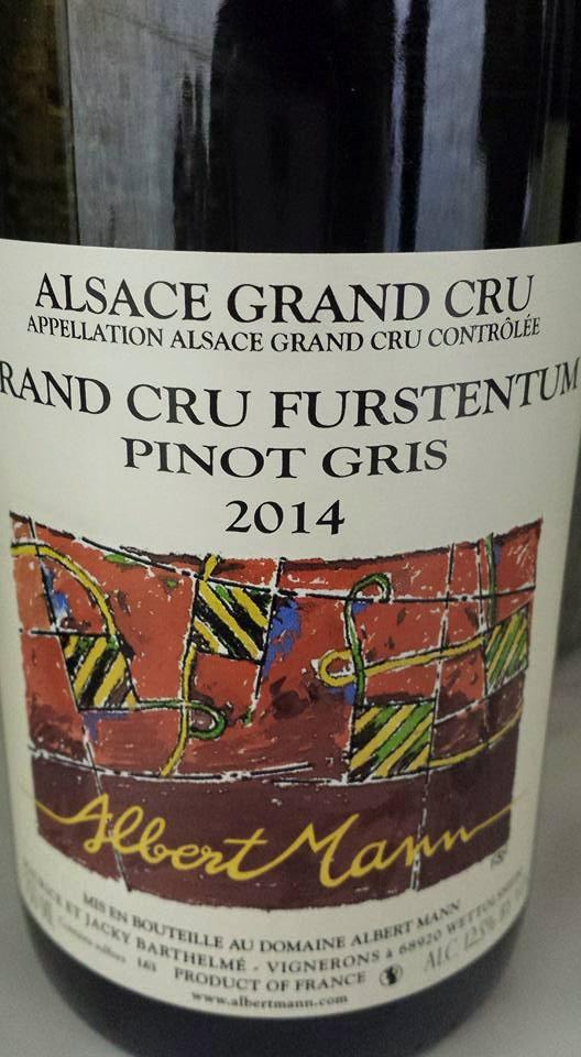Albert Mann – Pinot Gris Furstentum 2014 – Alsace Grand Cru