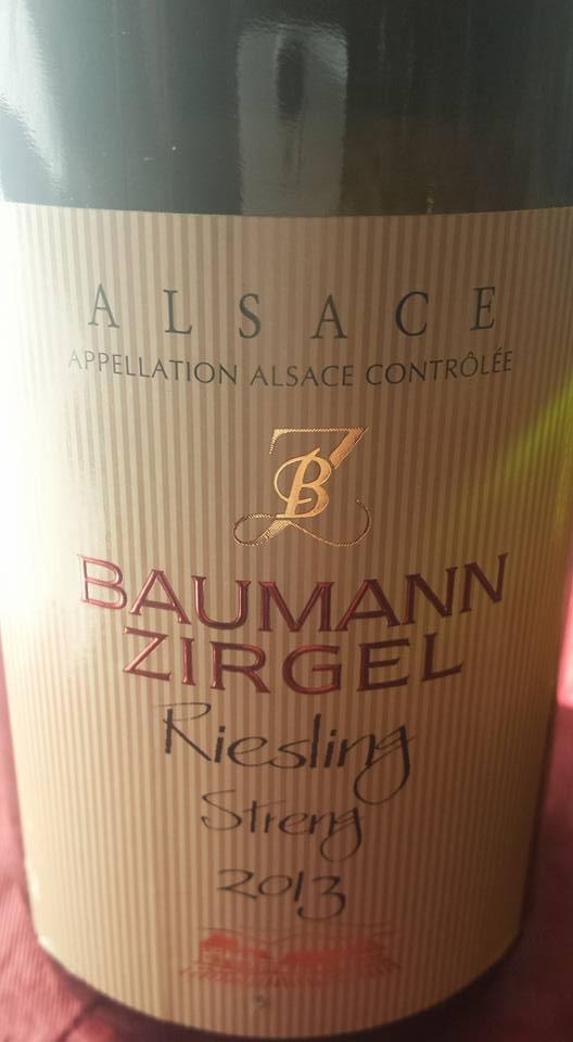 Baumann Zirgel – Riesling Streng 2013 – Alsace