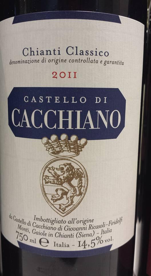 Castello di Cacchiano 2011 – Chianti Classico