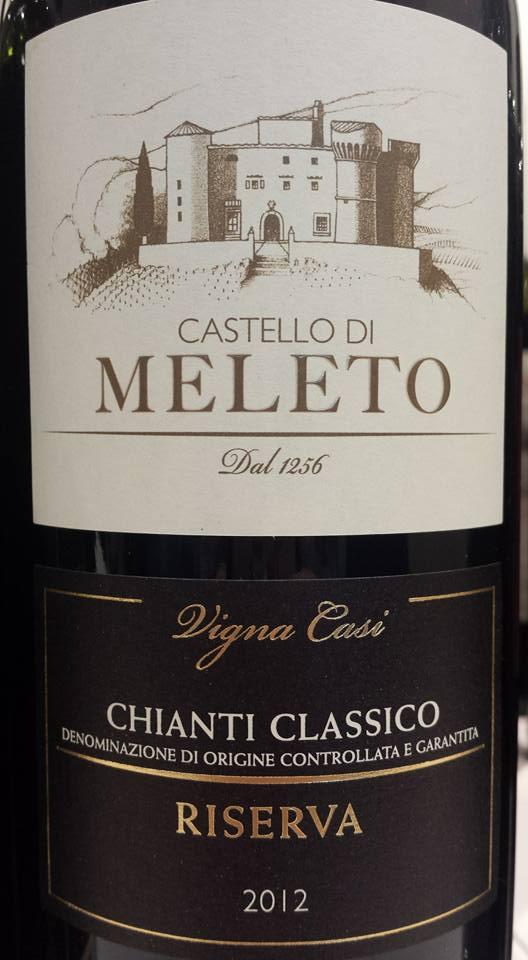 Castello di Meleto – Vigna Casi 2012 – Chianti Classico Riserva