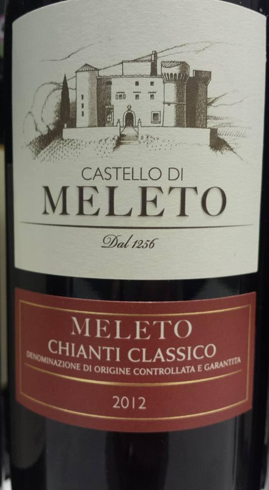 Castello di Meleto 2012 – Chianti Classico