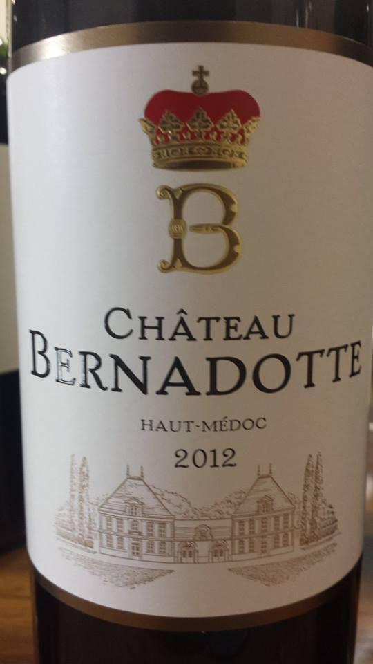 Château Bernadotte 2012 – Haut-Médoc – Cru Bourgeois