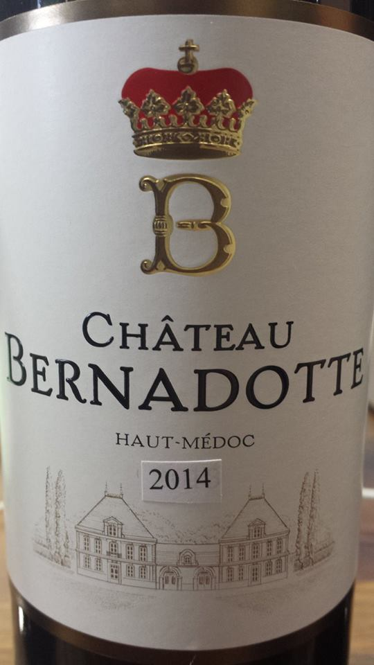 Château Bernadotte 2014 – Haut-Médoc