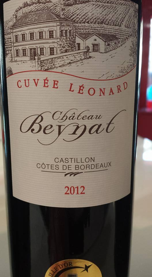 Château Beynat – Cuvée Léonard 2012 – Castillon côtes de Bordeaux