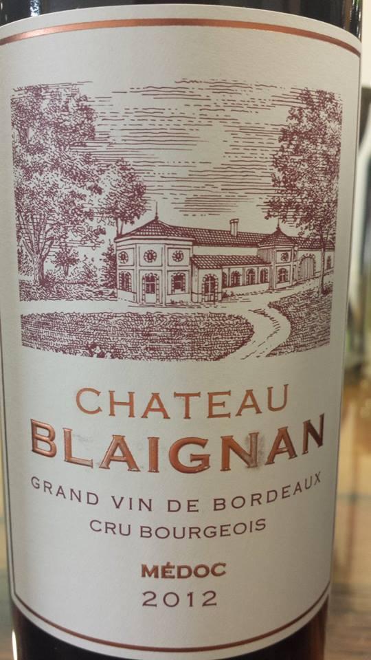 Château Blaignan 2012 – Médoc – Cru Bourgeois