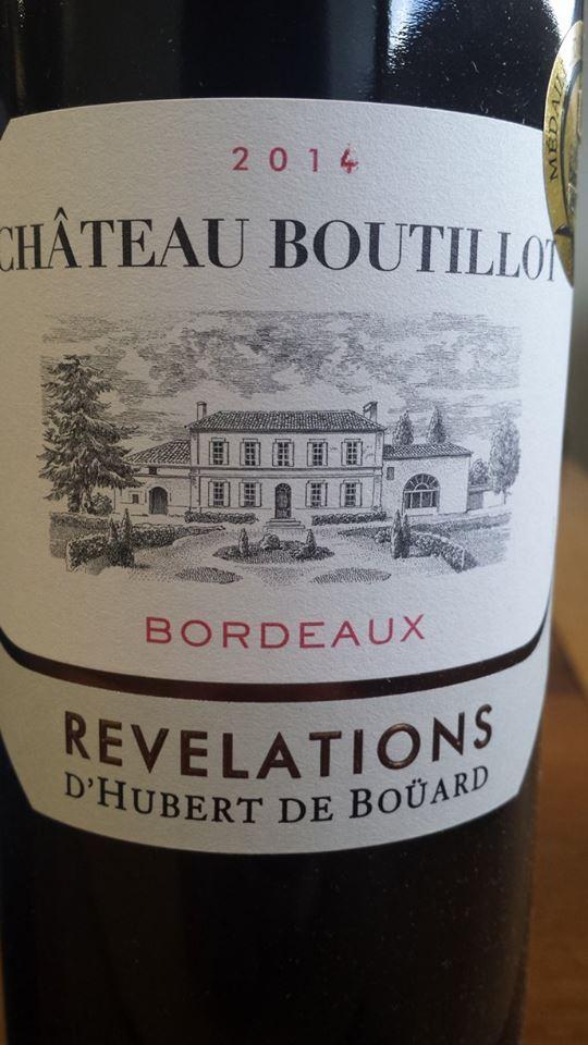 Château Boutillot – Révélations 2014 – Bordeaux