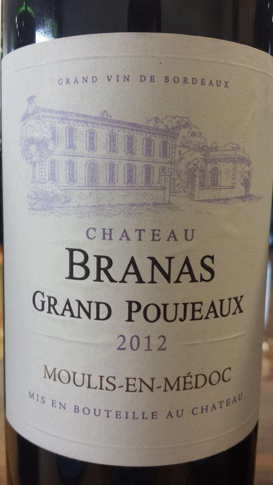 Château Branas Grand Poujeaux 2012 – Moulis-en-Médoc – Cru Bourgeois