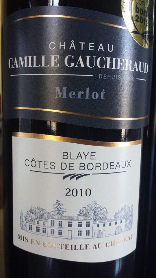 Château Camille Gaucheraud – Cuvée Merlot 2010 – Blaye Côtes de Bordeaux