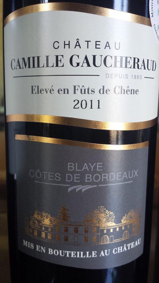 Château Camille Gaucheraud 2011 – Blaye Côtes de Bordeaux