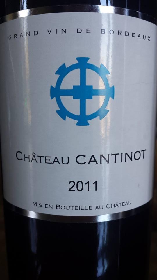 Château Cantinot 2011 – Blaye Côtes de Bordeaux