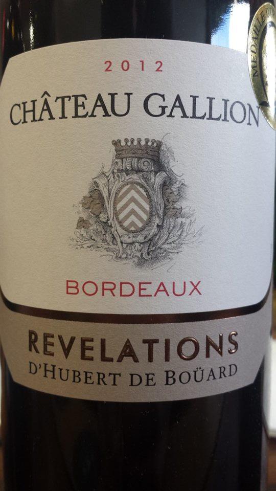 Château Gallion – Révélations 2012 – Bordeaux