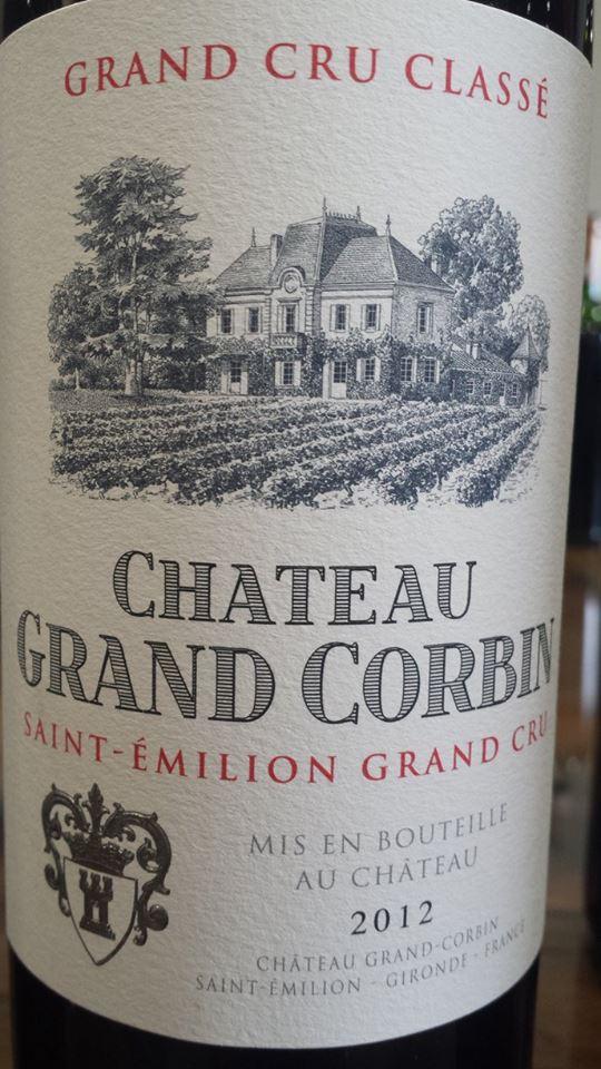 Château Grand Corbin 2012 – Saint-Emilion Grand Cru Classé