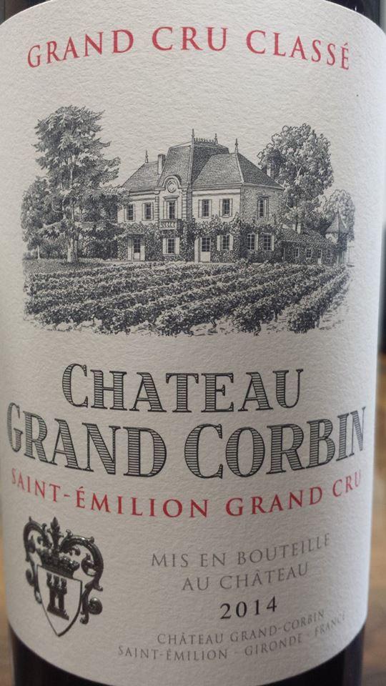 Château Grand Corbin 2014 – Saint-Emilion Grand Cru Classé