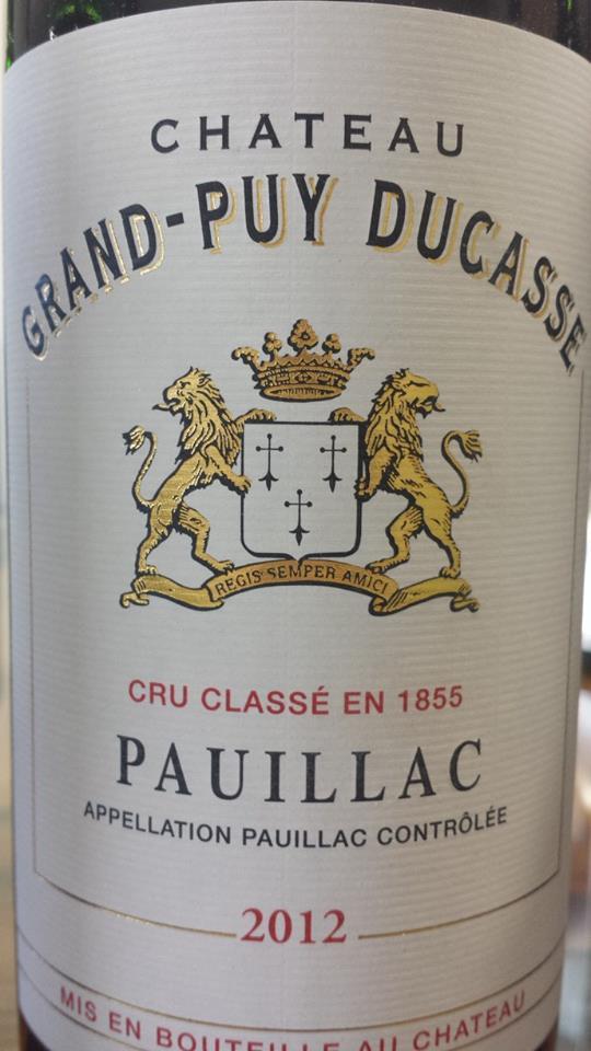Château Grand-Puy Ducasse 2012 – Pauillac, 5ème Grand Cru Classé