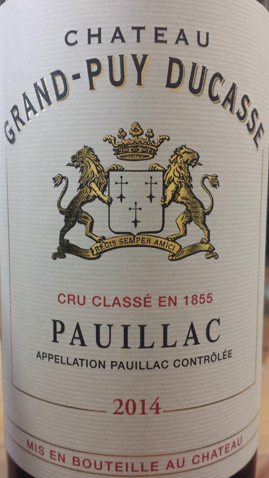 Château Grand-Puy Ducasse 2014 – Pauillac, 5ème Grand Cru Classé