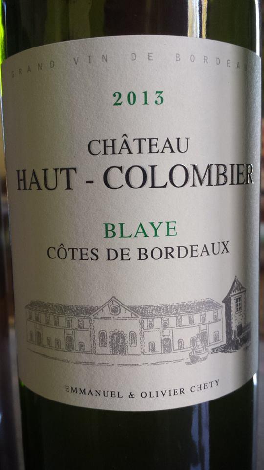 Château Haut Colombier 2013 – Blaye Côtes de Bordeaux