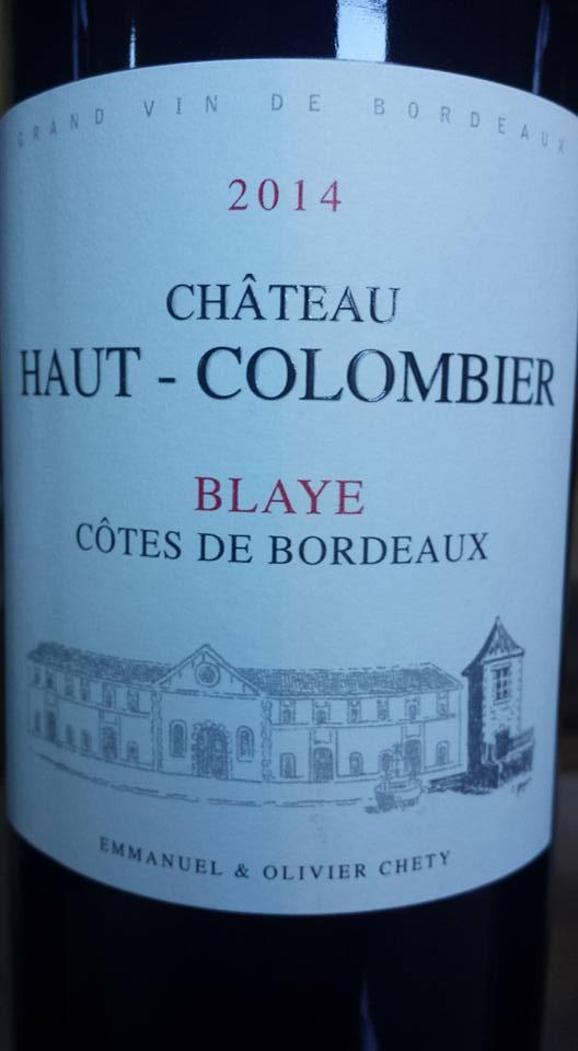 Château Haut Colombier 2014 – Blaye Côtes de Bordeaux